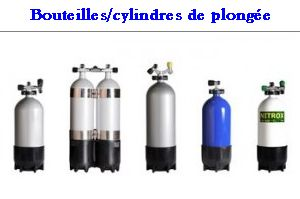 bouteilles cylindres
